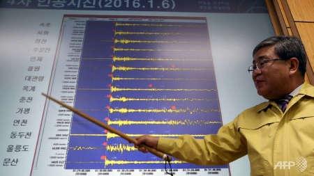 Lecturas del terremoto generado por la explosión nuclear