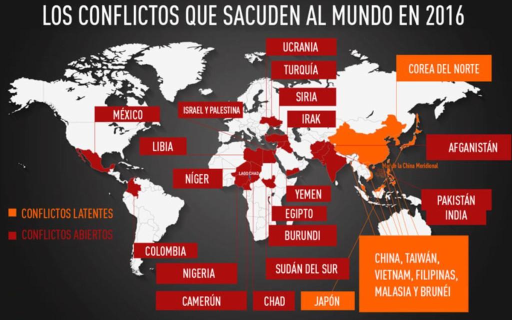 ¿Cuáles son los conflictos que sacuden al mundo en 2016